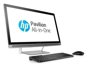 "AiO HP 24-B223 i3-7100T/23.8"" FHD/6GB/1TB/DVD/Keyboard+Mouse/Win 10 Silver"