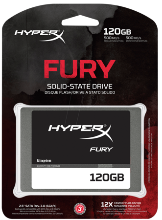 Dysk SSD 120GB Kingston HyperX Fury 2.5'' SATA3 transfer: 500/500 MB/s