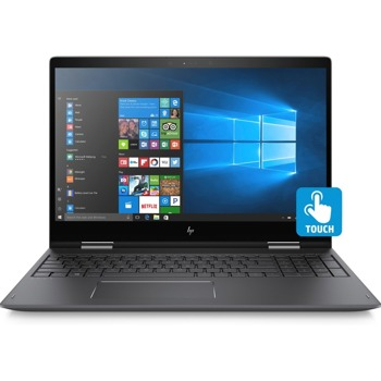 "Laptop HP Envy 15-BQ213 Ryzen 5 2500U/15.6"" FHD TouchScreen/8GB/SSD 512GB/BT/BLKB/x360/Radeon Vega 8 up to 8GB/Win 10 Grey"